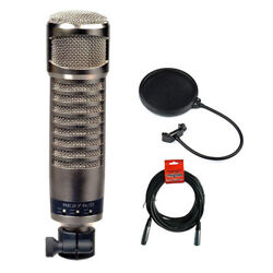 Electro-Voice RE27ND Broadcast Announcer Microphone w Pop Filter