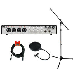 Steinberg UR-RT4 USB Interface w Mic Stand XLR Cable & Pop Filter