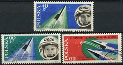 Poland 1963 SG#1402-4 2nd Team Manned Space Flights Cto Used Set #D81634