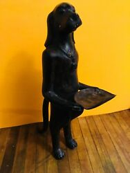 Ancient Egyptian Hound Dog  Statue / Sculpture Art Rare Vintage Old 11 Tall
