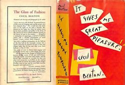 And039it Gives Me Great Pleasure By Cecil Beaton His Personal Copy Not To Be Taken