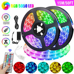50ft Rgb Color Changing 450led Fairy Strip Light 5050 Smd Flexible Tape W/remote