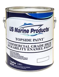 Marine Topside Commercial Grade High Durability Enamel Boat Paint Red Gallon