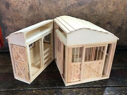 30919 Breyer Wooden Horse Farm BARN  ~ Wood Toy Play Stable w opening doors