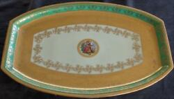 Antique Bohemia Supremacy Ceramic 17 Platter - 24k Gold Encrusted - Collectible