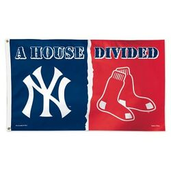 New York Yankees Boston Red Sox Deluxe Flag 3 X 5 House Divided