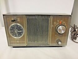 Ge General Electric Solid State Radio And Clock Combination C1405a-does Work