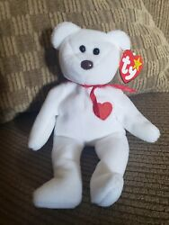 Extremely Rare Valentino 1993 Ty Inc Beanie Baby With Swing Tag Errors Pvc