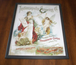 Indianapolis Brewing Co. Framed 11x14 Color Ad Print - St. Louis Mo