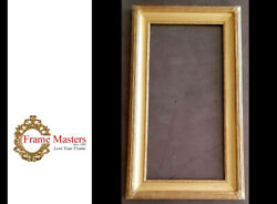 28 1/8 X 34 1/4 Solid Wood Whistler Style Picture Frame In Genuine 22k Gold