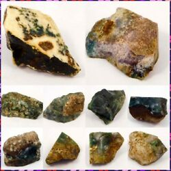 100 Natutral Moss Agate Rough Mineral Specimen Ng15852-15869 Free Shipping