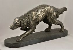 Italyantique Silver Plated Dog Sculpture By Bruno Tornatiearly 20thc