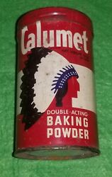 Vintage Calumet Double Acting Baking Powder Empty Tin Filled With Matches