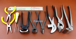 10pc Leathercraft Cobbler Side Cutter Pliers Awl Cutter Pincers Nail Puller Tool
