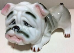 Vintage Ceramic English Male Bulldog Figurine Miniature