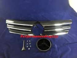 Front Grille Black For '1989-'2001 Benz R129 SL-Class CL Style With Badge