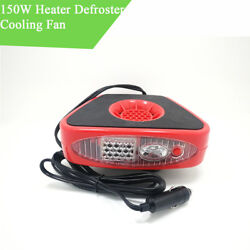 150W 12V Car Heater Cooling Fan Windscreen Window Defroster with LED Flashlight
