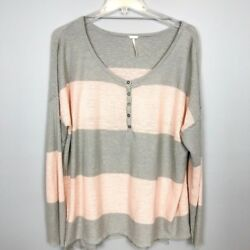 Free People Beach Striped Lightweight Sweater SZ M $30.90