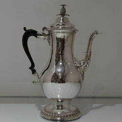 18th Century Antique George Iii Sterling Silver Coffee Pot Lon1768 Smithand Sharp