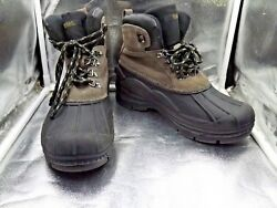 MENS TOTES THERMOLITE LEATHER INSULATED WATERPROOF WINTER SNOW BOOTS SZ 9M $29.99
