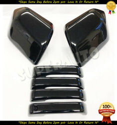 For 2015-2020 Ford F-150 Glossy Black Mirror+4dr Handle Cover Trim F150 Blackout
