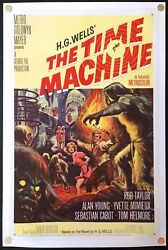 The Time Machine 1960 Original Movie Poster One Sheet Linen Backed (27