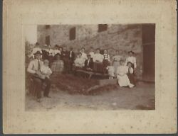 Family By Barn Late 1800and039s Early 1900and039s Clemens Estate Real Photo - Delano Pa
