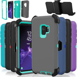 For Samsung Galaxy S9+ Plus Defender Rugged Case Cover Fits Otterbox Belt Clip