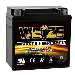 YTX14-BS Battery For Motorcycles Yamaha FJ1200 (All) FZR1000 GTS1000 YZF1000R
