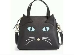 BRAND NEW IN PACKAGING KATE SPADE BLACKMULTIPLE CAT'S MEOW CAT SMALL MAISE-RARE