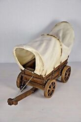 22 L 15 H Vintage Western Covered Wagon Table Lamp 1950s Working