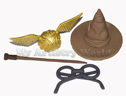 A Set Of Harry Potter Themed Edible 3d Fondant Cake Toppers.