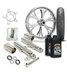 Rc 21 Majestic Wheel Tire And Complete Chrome Front End Package Harley 14-19 Flh