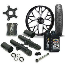 Rc 21 Kore Wheel Tire And Complete Eclipse Front End Package Harley 14-19 Flh