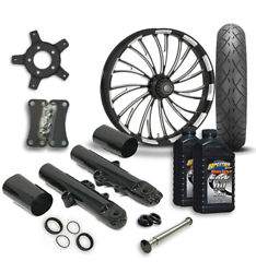 Rc 21 Axxis Wheel Tire And Complete Eclipse Front End Package Harley 14-19 Flh