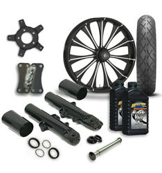Rc 21 Cynical Wheel Tire And Complete Eclipse Front End Package Harley 14-19 Flh