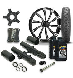 Rc 21 Cypher Wheel Tire And Complete Eclipse Front End Package Harley 14-19 Flh