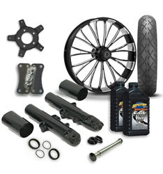 Rc 21 Dynasty Wheel Tire And Complete Eclipse Front End Package Harley 14-19 Flh