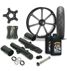 Rc 21 Mission Wheel Tire And Complete Eclipse Front End Package Harley 14-19 Flh
