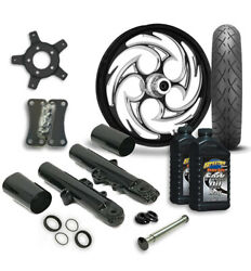 Rc 21 Savage Wheel Tire And Complete Eclipse Front End Package Harley 14-19 Flh