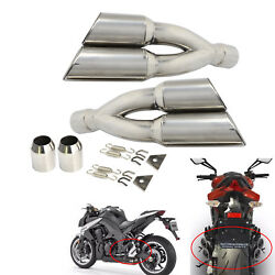 38-51mm Motorcycle Stainless Steel Exhaust Muffler Pipe With Removable DB Killer