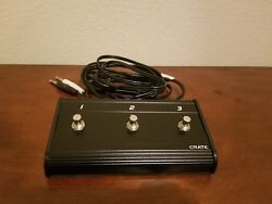 CRATE THREE 3 BUTTON FOOTSWITCH EFFECTS PEDAL WITH GUITAR AMP AMPLIFIER CABLE