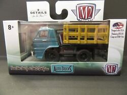 M2 Machines 1966 Dodge Turquoise L-600 Stakebed Truck 1/64