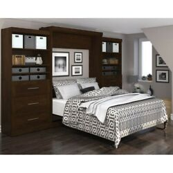 Bestar Pur 136 Queen Wall Bed With Storage In Chocolate