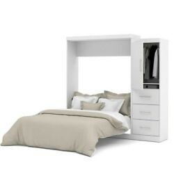 Atlin Designs 90 Queen Wall Bed Kit With 3 Drawer Set In White