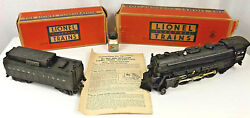 LIONEL 2055  HUDSON STEAM LOCOMOTIVE & 6026W WHISTLE TENDER TRAINS - IN BOXES