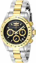 Menand039s Signature Chronograph 200m Two Tone Stainless Steel Watch 7028
