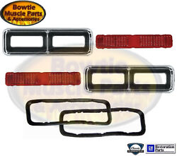 68 Rs Camaro Tail Light Lamp Housings Bezels Pair Excellent Quality Gm Licensed