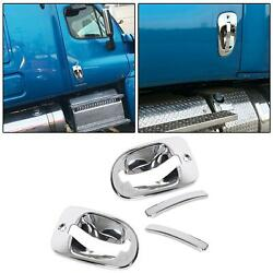 2 X Chrome Door Handle Cover Left Right Pair For Freightliner Cascadia 2008-17