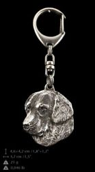 Golden Retriever Keyring Silver Plated, Solid Keychain, Key Ring With Dog Usa 22